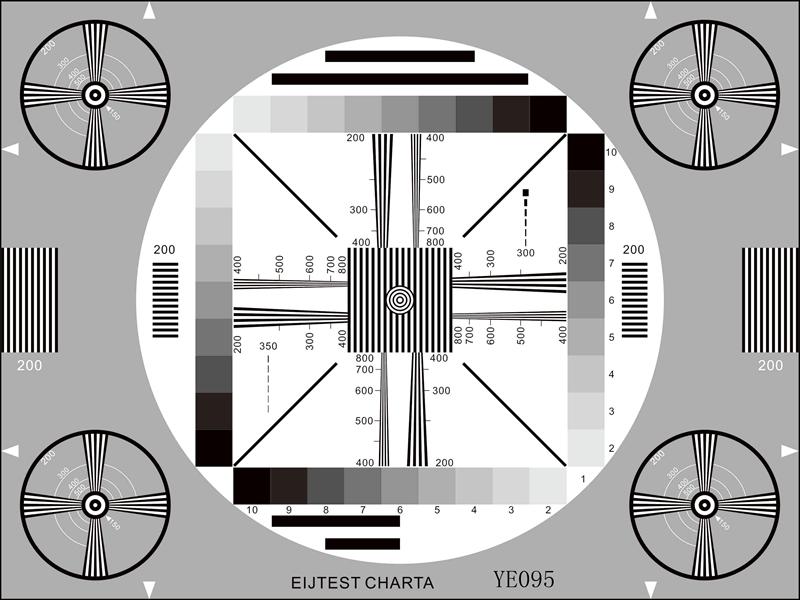 解析度綜合測試卡反射式