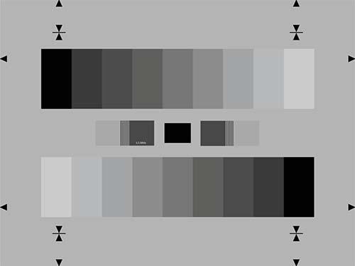 彩色摄像机灰度测试卡BBC64